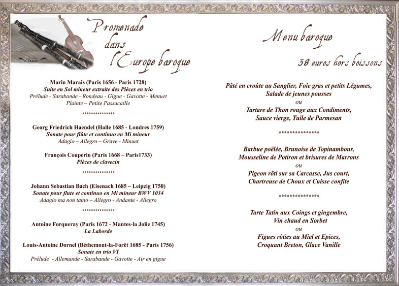 menu 18 octobre 2014